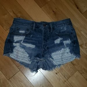 American Eagle Distressed Denim Shorts 6